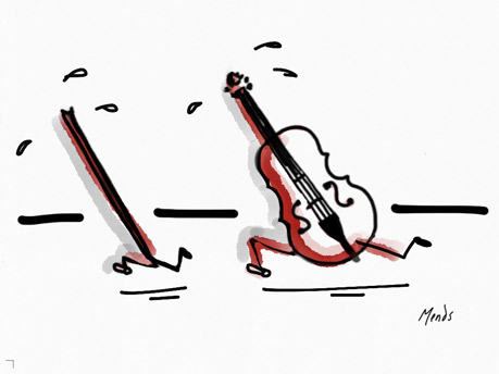 Article bog Du violon, rien que du violon ! par Pierre Rodier, avocat enseignement artistique. Illustration copyright Deborah Mends