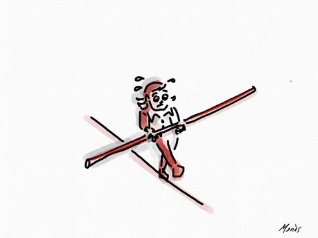 Article de blog Transformer son CDD en CDI, La précarité, oui, la misère, non ! Article de Pierre Rodier, avocat enseignement artistique. Dessin copyright Deborah Mends.
